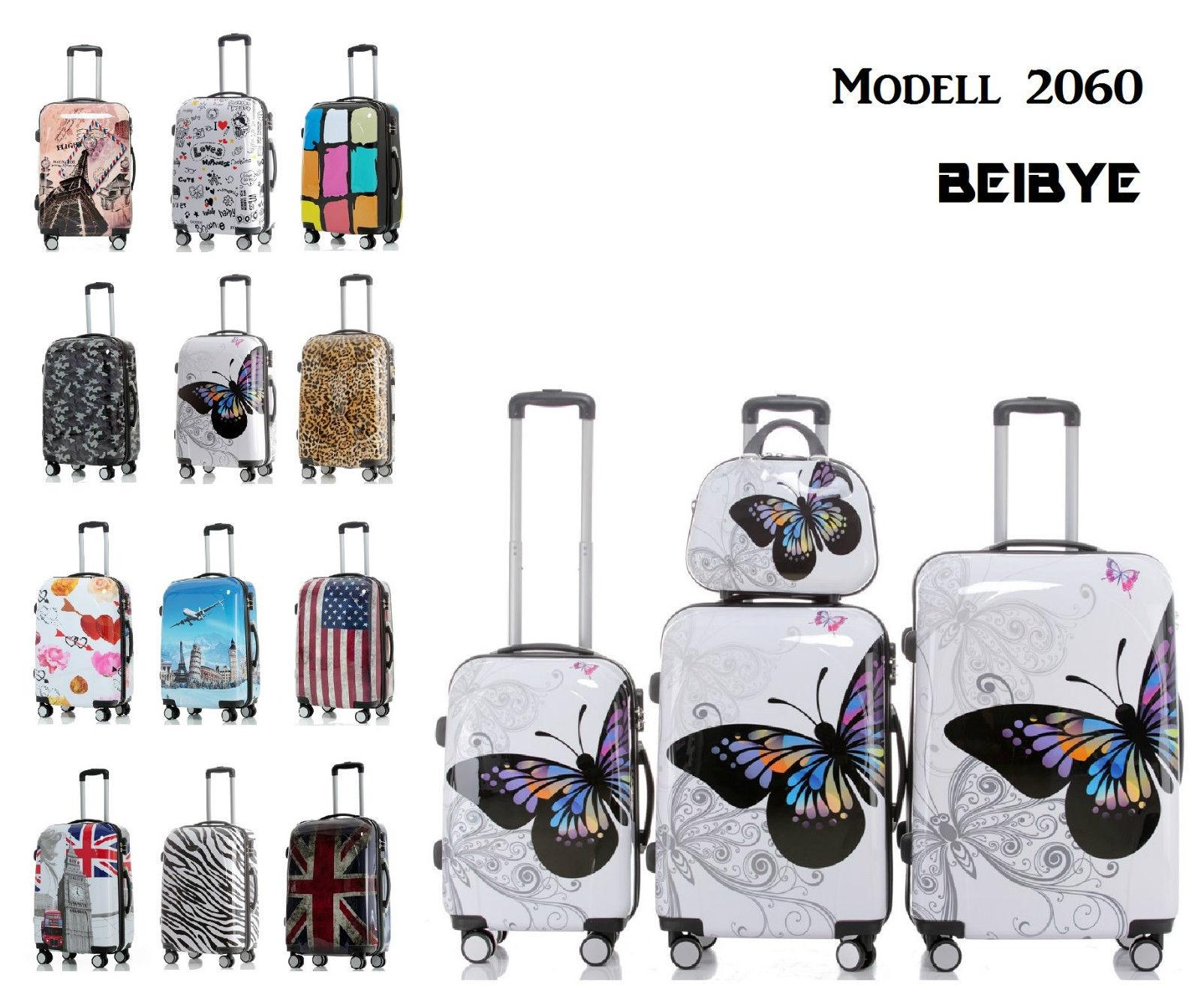 Polycarbonat Hartschale Kofferset Koffer Reisekoffer SET--XL-L--M-- Beautycase