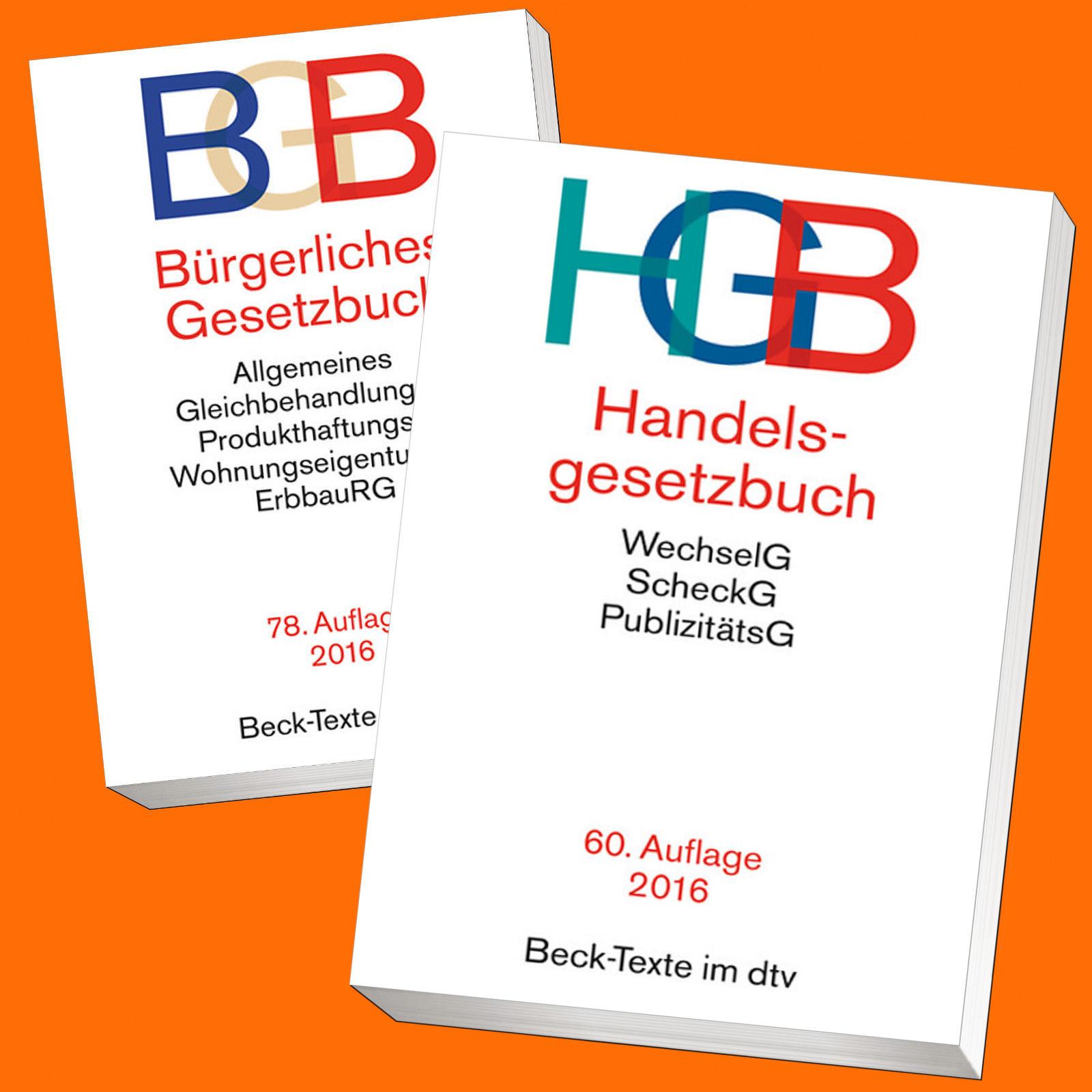 im SET: BGB + HGB   BÜRGERLICHES-/HANDELS-GESETZBUCH   sofort lieferbar !!