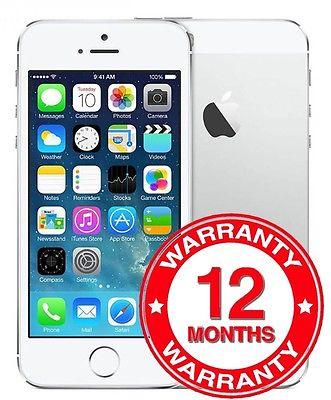 Apple iPhone 5s - 16GB - Silver (Unlocked) Smartphone