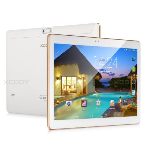 32GB 10.1 ZOLL DUAL SIM 2x Kamera WLAN 3G GPS Android 4.4 HD Tablet PC Weiß 10''
