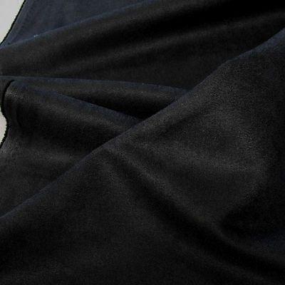 Alcantara Wild-Leder Polster-Stoff weich abriebfest Möbelstoff Meterware schwarz