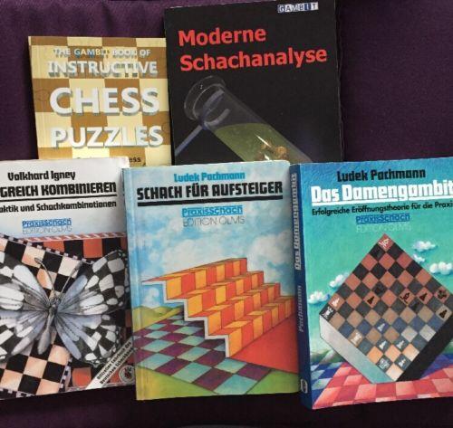 Schach Buch- Paket 5 Teilig- Schachtaktik- Top Angebot!