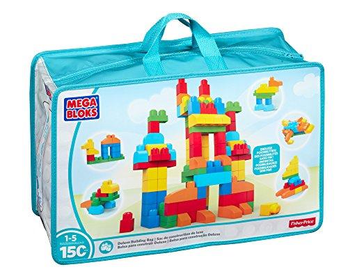 Mattel Mega Bloks First Builders CNM43 - Bausteinebeutel - Deluxe 150 Teile - Grundfarben - Refresh, Bau- und Konstruktionsspielzeug