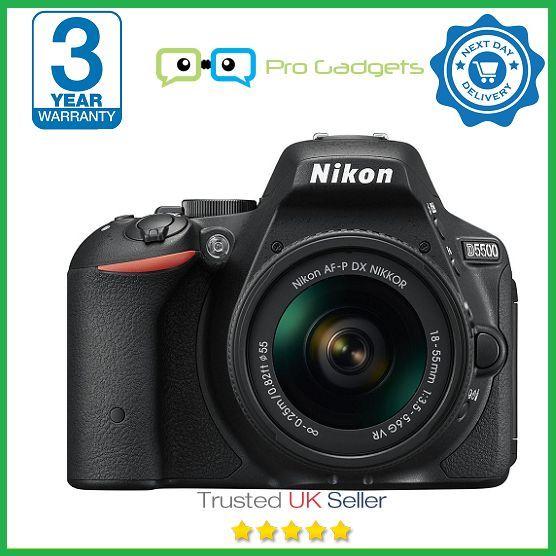 Nikon D5500 Kit With AF-P DX 18-55mm VR Lens (Black) - 3 Year Warranty