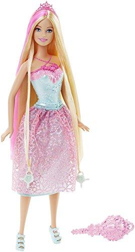 Mattel Barbie DKB60 - Modepuppen, 4 Königreiche, Zauberhaar Prinzessin, pink