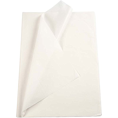 Seidenpapier weiß 20860 von Creativ Company - Transparentes Seidenpapier zum Basteln und zur Dekoration. 50 x 70 cm, 14g/qm, 25 Blatt.
