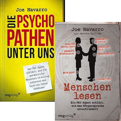JOE NAVARRO Die Psychopathen unter uns + Menschen lesen IM SET *NEU*