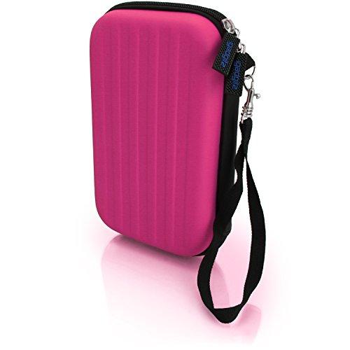 igadgitz Pink EVA Hart Tasche Schutzhülle fur Neu Nintendo 3DS XL (Alle Versionen) Etui Case Cover mit Tragegurt