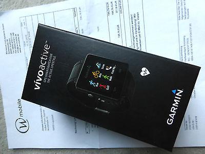 Garmin Vivoactive mit Brustgurt, Fitness Uhr, Laufuhr, GPS Armbanduhr, Joggen
