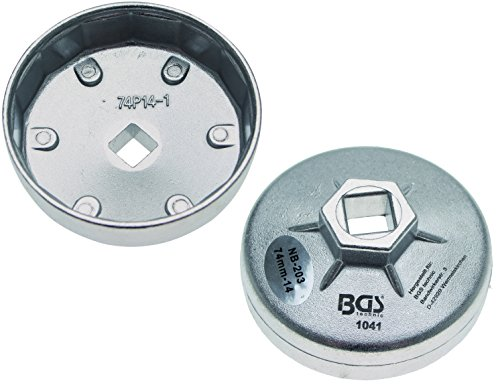 BGS 1041 Ölfilterkappe aus Aluminium-Druckguss, 74 mm x 14-kant
