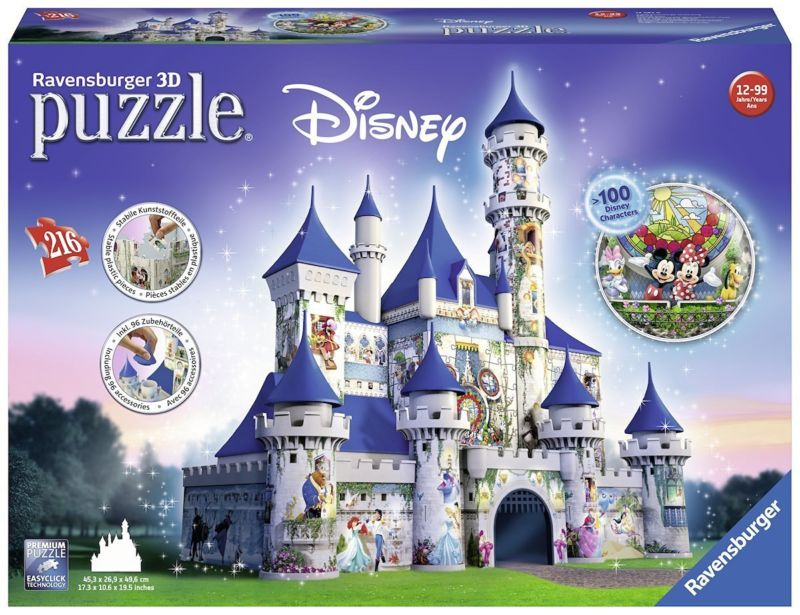 Ravensburger 3D-Puzzle 12587 - Disney Schloss, 216 plus 75-teilig Bauwerke