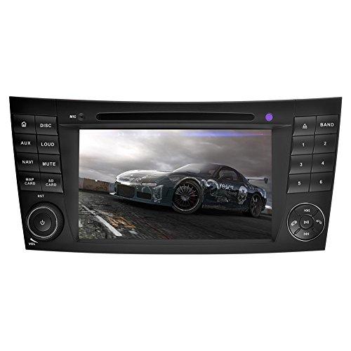 YINUO 7 Zoll 2 Din Android 5.1.1 Lollipop Quad Core Autoradio Moniceiver DVD GPS Navigation Orange Farbe Tastenbeleuchtung Unterstützung DAB / Bluetooth / Lenkrad-Steuerung / AV-IN / 1080p für Mercedes-Benz E-W211/E200/E220/E240/E270/E280(2002/03-2008),CL