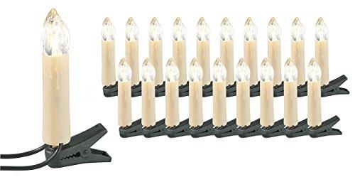 Lunartec LED-Weihnachtsbaum-Lichterkette mit 20 LED-Kerzen, IP20