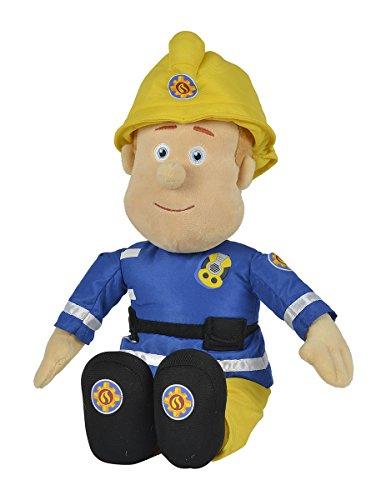 Simba 109252112 - Feuerwehrmann Sam Plüschfigur mit Helm 45cm