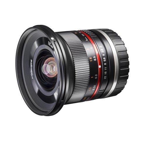 Walimex Pro 12 mm 1:2,0 CSC-Weitwinkelobjektiv für Sony E-Mount Objektivbajonett schwarz