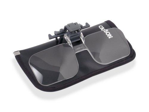 Carson OD-14 Clip & Flip 2x (+4.00 Dioptrien) Vorsatzlupe für alle Brillentypen