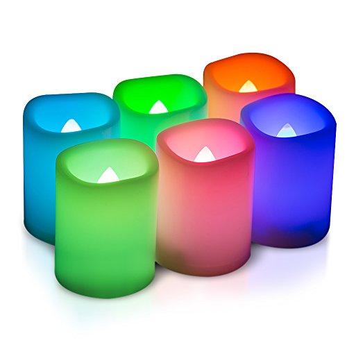 Kohree 6 LED Votivkerzen Flammenlose Kerzen mit Fernbedienung und Timer, LED Flameless Stumpenkerzen , mehrere Farben