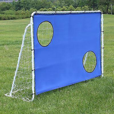 Songmics Fußballtor Tor Fußball mit Torwand Portable 240 x 150 x 90 cm SZQ240