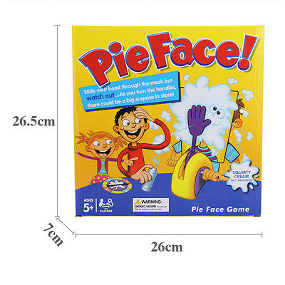 Pie Face Kinder Spiel Partie Game Gaming Spaß gefüllten Familien Spiel DM DEU