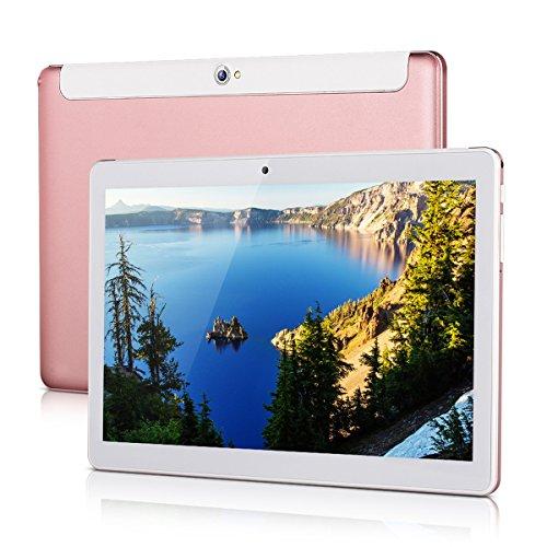Excelvan 10.1 Zoll Tablet 1280*800 Android 4.4 MTK6582 Quad Core 1GB+16GB Speicher 3G SIM Karte WiFi Dual Kamera Bluetooth4.0 G-sensor GPS OTG FM Tablet PC Rosa