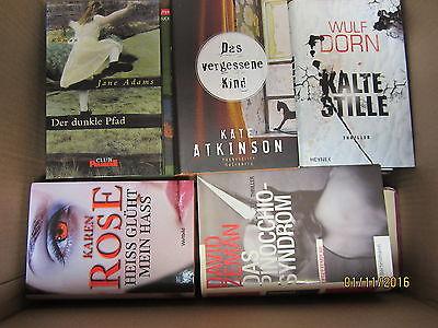 35 Bücher Krimi Kriminalromane Thriller Psychothriller Paket 1