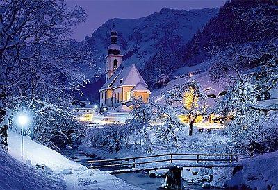 Puzzle Pappe Trefl 1500 Teile Bayerische Alpen Ramsau im Winter - NEU 26073
