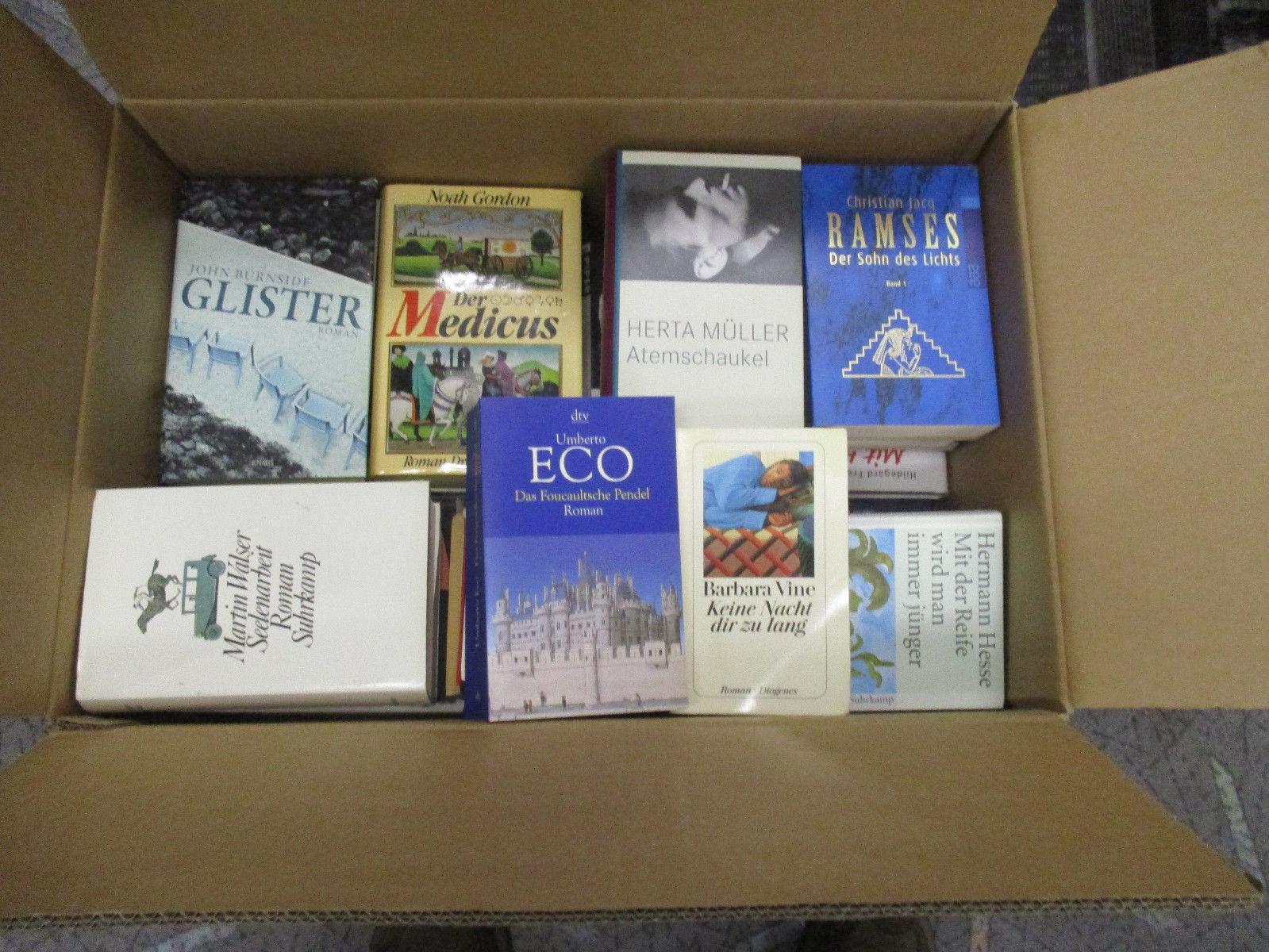 Buch-Kiste - schöne Büchersammlung - Konvolut - 40 bis 50 Bücher bunt gemischt