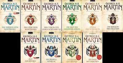 das Lied von Eis und Feuer 10 Tascheinbücher George R.R.Martin  Game of Thrones