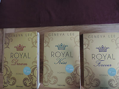 Geneva Lee 3 Bücher Band 4,5 und 6 Royal Dream,Royal Kiss und Royal Forever