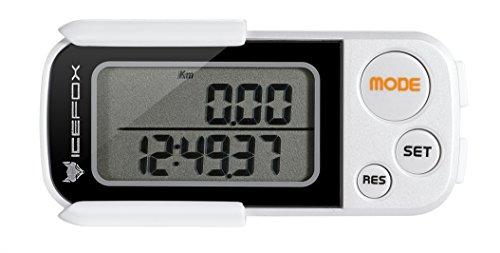 icefox® 3D Schrittzähler, mit Fitness AktivitätenZähler, bis zu 30 Tage speichert,ein akkurater Laufschrittzähler, ein Trainingszeiten- und Kalorienzähler, hält die tägliche Leistungen fest