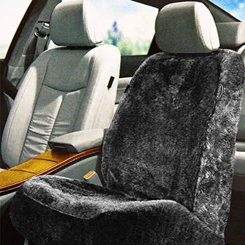 Universal Lammfell Autositzbezug - Schonbezug in der Farbe: Anthrazit/Grau - von Brandsseller