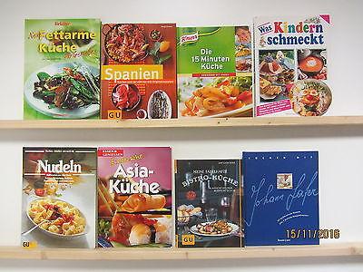25 Bücher Kochbücher nationale und internationale Küche Paket 1