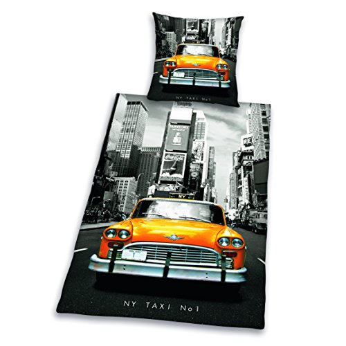 Herding 445960050412 Bettwäsche New York Taxi Kopfkissenbezug