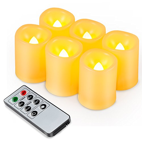 Kohree 6 LED Flammenlose Kerzen mit Fernbedienung für gemütliche Abende mit Batterien