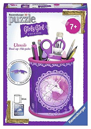 Ravensburger 12074 - 3D Puzzle Girly Girl Edition Utensilo Einhörner