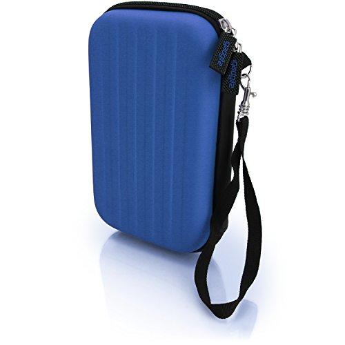igadgitz Blau EVA Hart Tasche Schutzhülle fur Neu Nintendo 3DS XL (Alle Versionen) Etui Case Cover mit Tragegurt