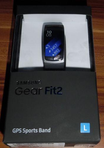 Samsung Gear Fit 2 Smartwatch Pulssensor GPS Benachrichtigungen Grau Gr L in OVP