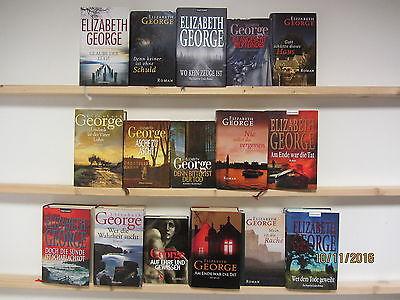 Elizabeth George 16 Bücher Romane  Krimi Kriminalromane Hardcover
