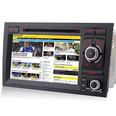 Audi A4 GPS Autoradio DVD NAVI WiFi S4 RS4 8E 8F B9 B7 Seat Exeo USB Bluetooth