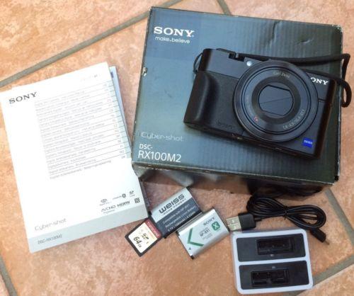 Sony DSC-RX100M2 (Mark II) 20.2 MP Digitalkamera inklusive Zubehörpaket