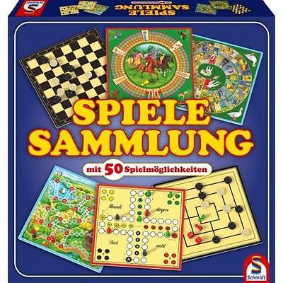 Schmidt Spiele 49112 Spielesammlung mit 50 Spielen Brettspiel Gesellschaftsspiel