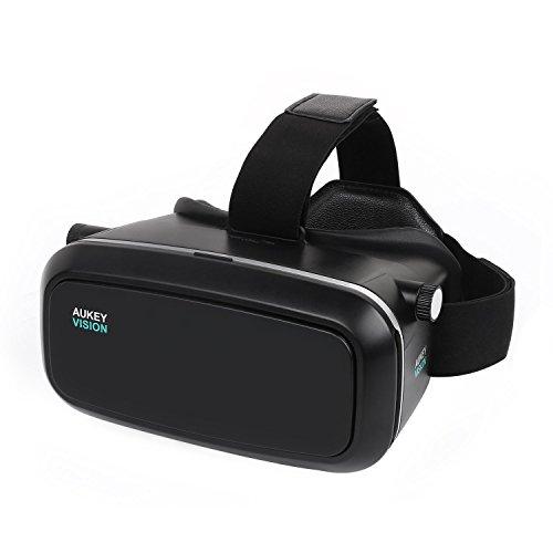 AUKEY 3D VR Brille Einstellbar Virtual Reality Headset für 3D Filme und Video Game mit 3.7