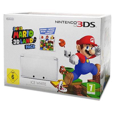 Nintendo 3DS + Super Mario 3D Land Ice White **NEU**OVP**LAGERND*