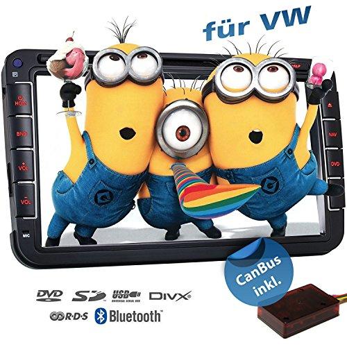 2DIN Autoradio CREATONE VW8000 mit GPS Navigation (Europa), Bluetooth, 8 Zoll (20cm) Touchscreen, DVD-Player und USB/SD-Funktion für Golf 5, Golf 6, Passat B6, Passat B7, Passat CC, Touran, Caddy, Jetta, Polo 5, Scirocco, Tiguan, T5 Transporter, T5 Multiv