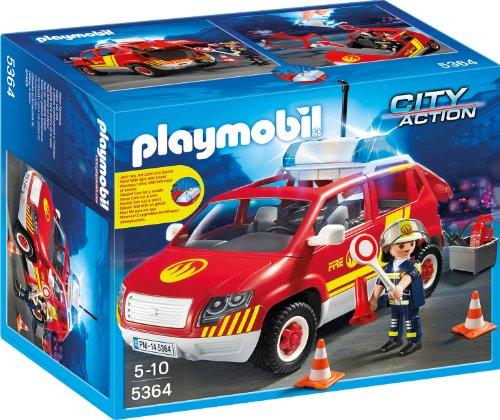 PLAYMOBIL 5364 - Brandmeisterfahrzeug mit Licht und Sound