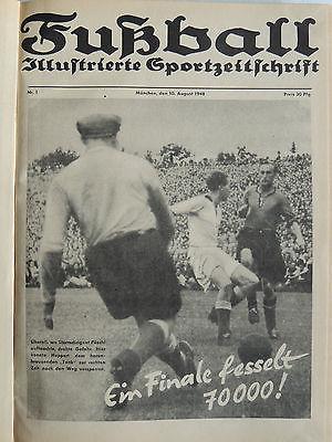 Fußball Illustrierte Sportzeitschrift  München 10. August 1948 Nr.1-21  Dez.1948