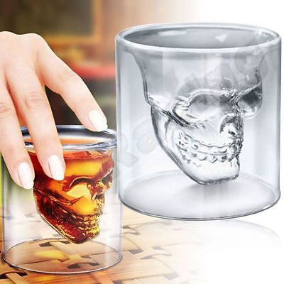 70ML Totenkopf Schädel Wein Vodka Skull Head Klar Glas Tasse Bar Hause
