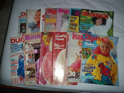 Konvolut Strickanleitungen Zeitschriften  13 x Baby und Kinder anschauen+lesen