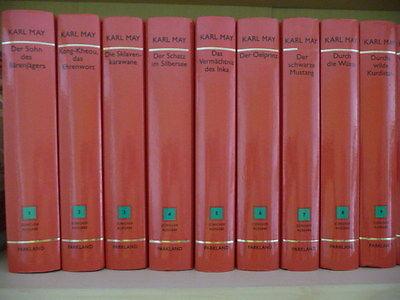 Karl May´s Hauptwerke  -33 Bände in rot-