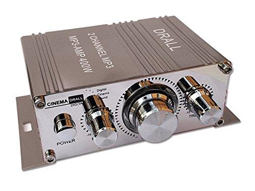 Mini-Endstufe Verstärker f. Wohnungen, Motoroller, Motorrad, Auto, MP3-Player GRAU Modell: EN4G